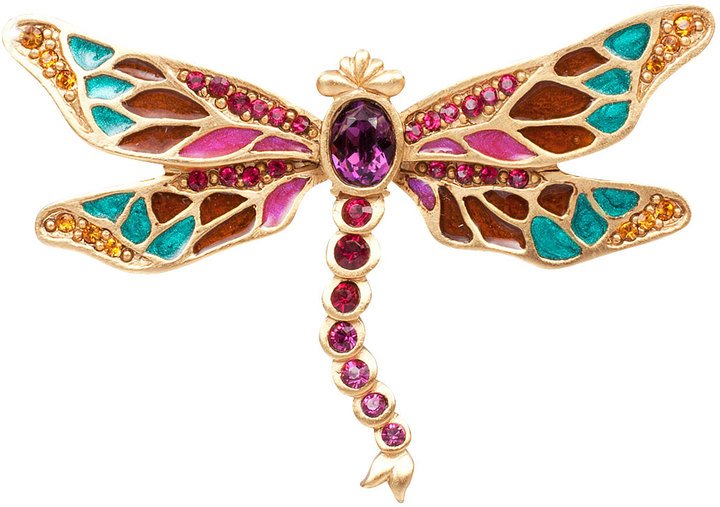 Jay Strongwater Breea Petite Dragonfly Pin