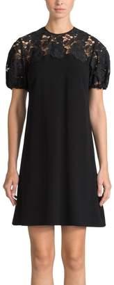 Shoshanna Lace Sleeve Dress