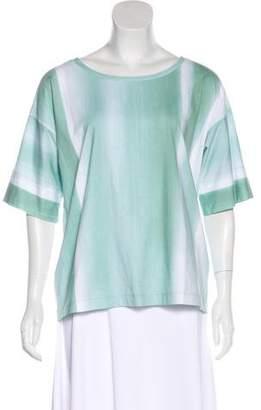 Lafayette 148 Printed Short Sleeve T-Shirt
