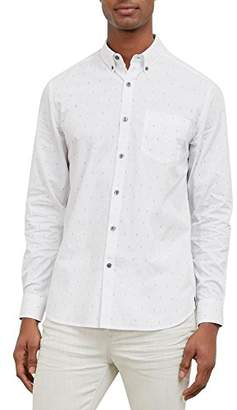 Kenneth Cole New York Men's Long Sleeve Mini-Print Shirt
