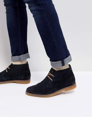 Base London Perry Suede Desert Boots in Navy