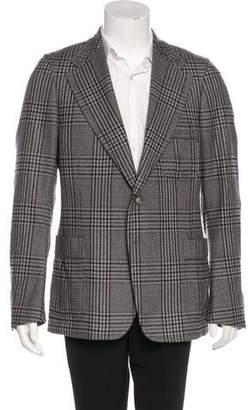 Gucci Plaid Wool & Silk Blazer