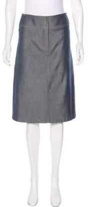 Chloé Denim Knee-Length Skirt