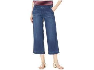 Jag Jeans Eliana Wide Leg Pull-On Denim Crop in Mid Indigo