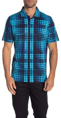 Bugatchi Geometric Short Sleeve Polo