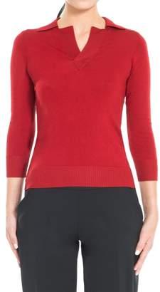 Max Studio Silk Polo Neck Sweater