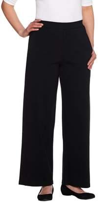 Denim & Co. Beach Regular Wide Leg Pants w/ Forward Seams