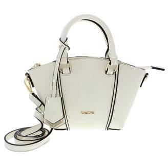 Bebe Womens Nadia Faux Leather Convertible Satchel Handbag Ivory Small