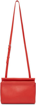 Calvin Klein Red Top Zip Cross Body Bag
