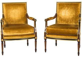 Clive Christian Interiors Pair of French Velvet Armchairs