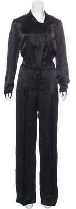 Urban Zen Notch-Lapel Button-Up Jumpsuit w/ Tags
