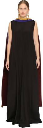 Marina Rinaldi LONG SATIN DRESS W/SCARF