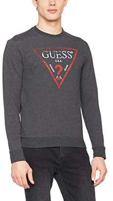 GUESS Men's Cn Ls Clear Fleece Sweatshirt,X-Large