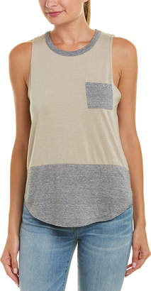 Chaser Blocked Shirttail Muscle Tank