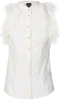 Just Cavalli ruffle lace shirt