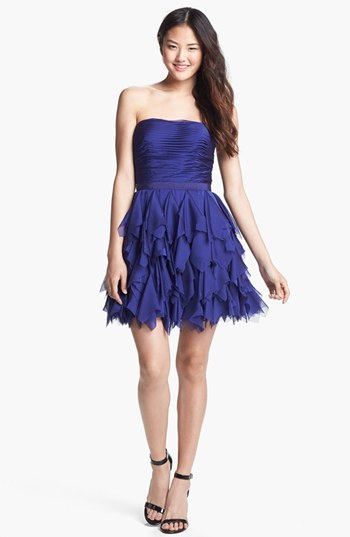 Adrianna Papell Ruffled Cocktail Dress