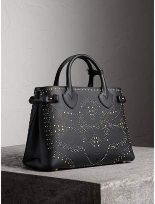 Burberry The Medium Banner in Riveted Leather