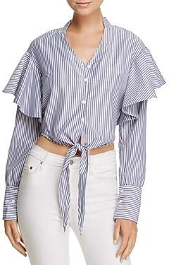 MLM Label Miller Tie-Front Stripe Shirt