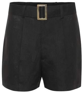 Lisa Marie Fernandez High-rise linen shorts
