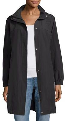 Eileen Fisher Stanc Collar Long Jacket $278 thestylecure.com