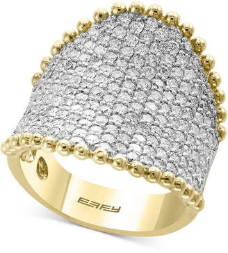 Effy D'Oro by Diamond Pave Cluster Ring (2-1/2 ct. t.w.) in 14k Gold