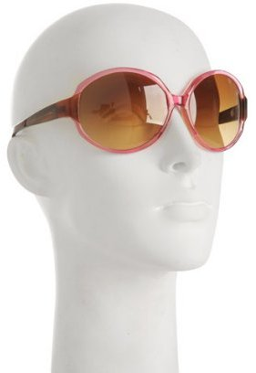 Oliver Peoples pink transparent 'Ladora' oversized round sunglasses