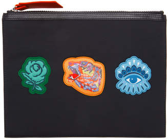 Kenzo Black Go Tigers Capsule Pouch