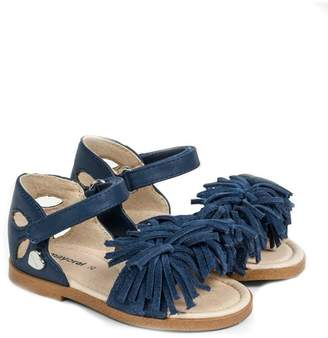 Mayoral Girls Blue-Fringed-Tassel-Sandals