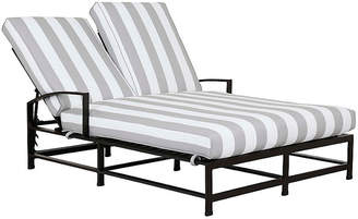 One Kings Lane La Jolla Double Chaise - Gray/White