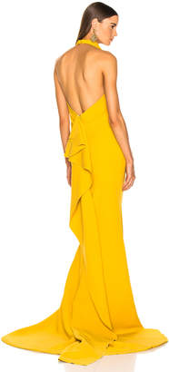 Oscar de la Renta Sleeveless Gown in Ochre | FWRD