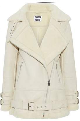 Walter W118 By Baker Adele Faux Shearling-Trimmed Leather Jacket