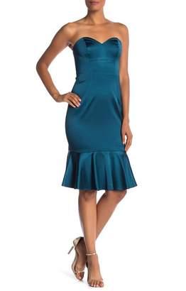 Trina Turk trina Greer Sweetheart Peplum Hem Dress
