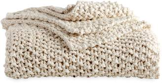 DKNY PURE Chunky Knit Throw Blanket