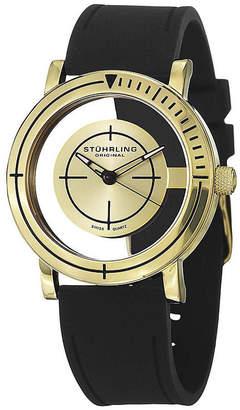 Stuhrling Original Original Mens Black Rubber Strap Watch