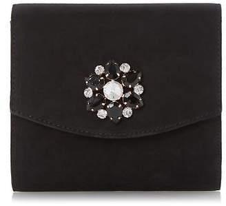 Head Over Heels Ladies BILARO Brooch Detail Fold Over Clutch Bag Black One Size