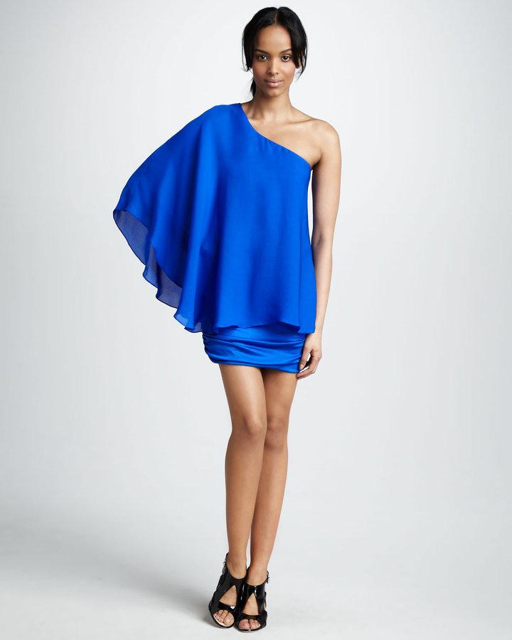 Jay Godfrey Candill One-Shoulder Dress