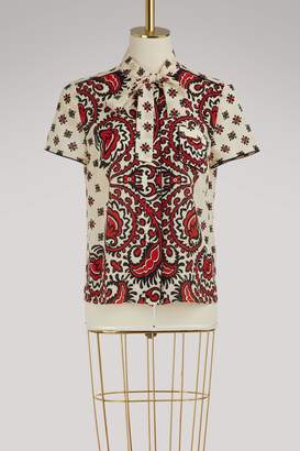 RED Valentino Bandana print silk shirt