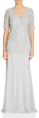 Adrianna Papell Embellished V-Neck Gown $348 thestylecure.com