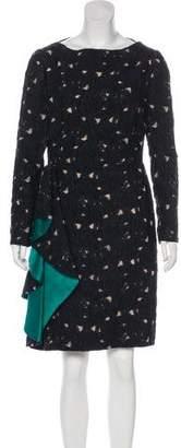 Lanvin Textured Knee-Length Dress