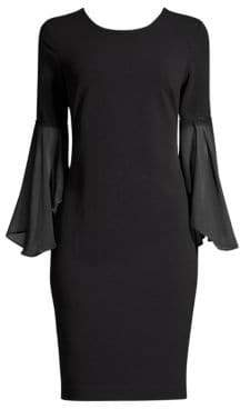 Donna Karan Bell Sleeve Sheath Dress