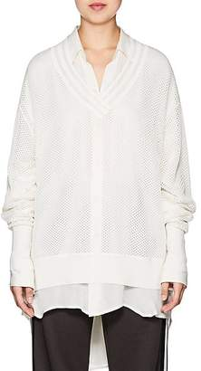 BY. Bonnie Young BY. BONNIE YOUNG WOMEN'S VARSITY MESH SWEATER - WHITE SIZE P