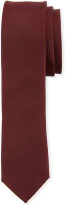 Dolce & Gabbana Solid Satin Silk Tie, Burgundy