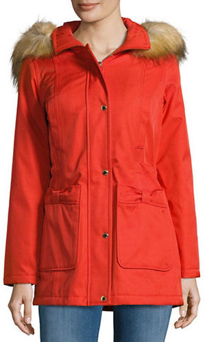Kate SpadeKate Spade New York Faux Fur-Trimmed Anorak Coat
