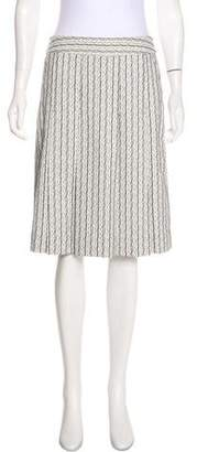 Tory Burch Pleated Knee-Length Skirt