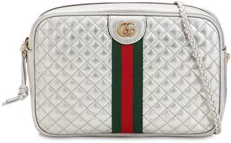 Gucci Medium Quilted Metallic Leather Bag
