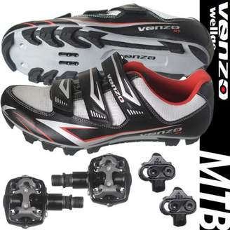 Shimano Venzo Mountain Bike Bicycle Cycling SPD Shoes + Pedals & Cleats 44.5