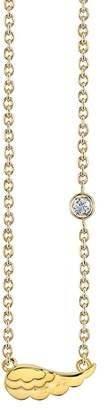Sydney Evan Syd by 14K Yellow Gold Plated Sterling Silver Diamond Wing Pendant Necklace - 0.015 ctw