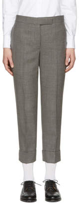 Thom Browne Grey Classic Backstrap Trousers