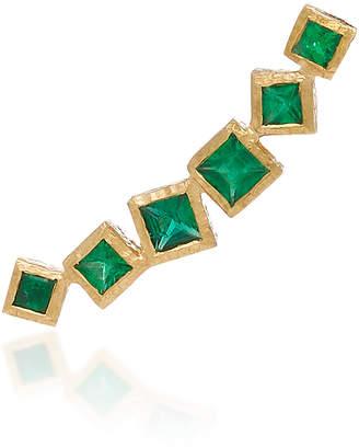 Octavia Elizabeth Ivy Gold and Emerald Ear Climber