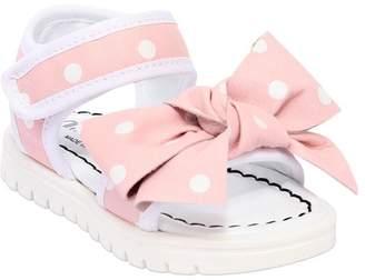 Simonetta Polka Dot Leather Strap Sandals